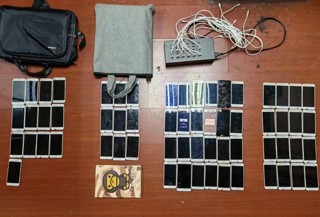 警方起获的用于非法引流的作案设备